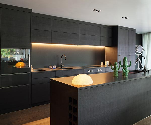 Residential Kitchen cabinetry - Black